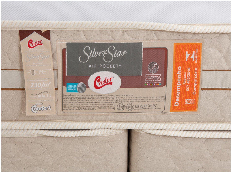 Colchão King Size Castor Mola Ensacadas/Pocket - 32cm de Altura Silver Star - 4