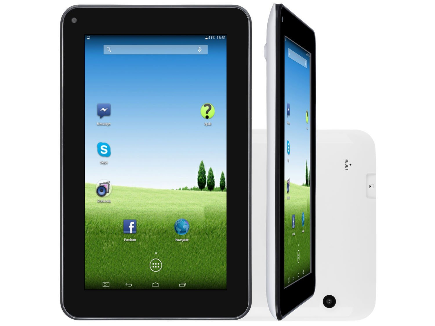 Foto 6 - Tablet DL e-Volution S 8GB 7 Wi-Fi Android 4.4 - Proc. Dual Core Câmera Integrada