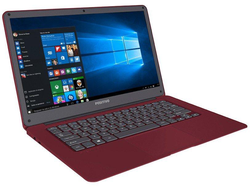 "Notebook Positivo Motion Red Q 232A - Intel Quad Core 2GB 32GB LED 14"" Windows 10 - Bivolt - 8"