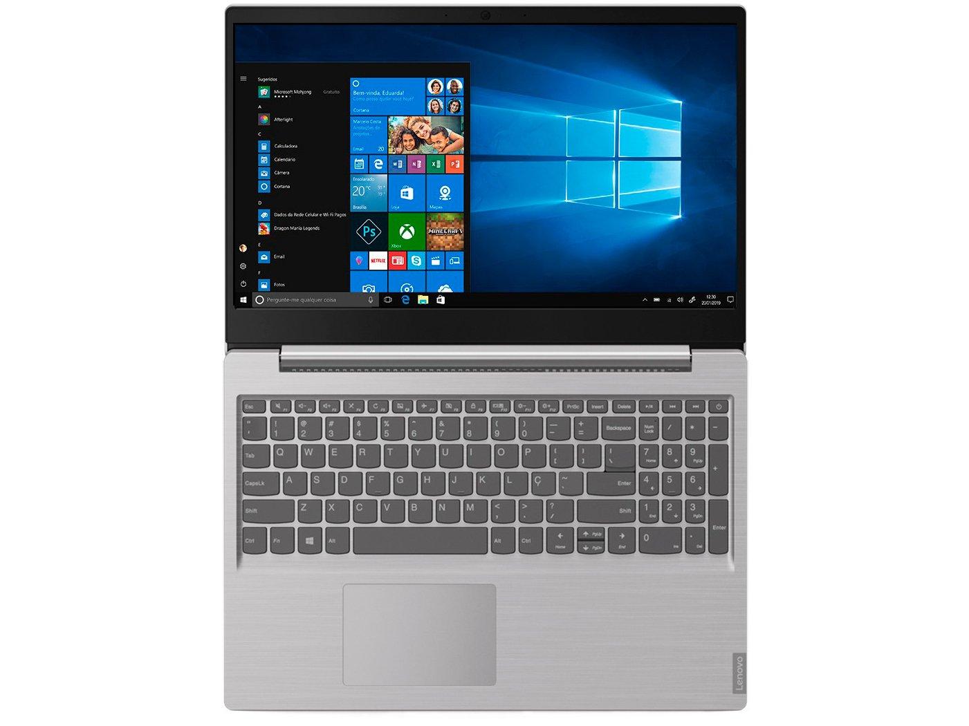 """Notebook Lenovo Core i3-8130U 4GB 1TB Tela 15.6"""" Windows 10 Ideapad S145 - 12"""