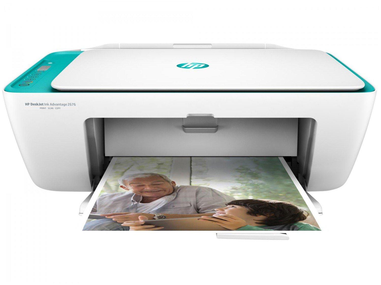 Foto 1 - Impressora Multifuncional HP Deskjet Ink Advantage - 2676 Jato de Tinta Wi-Fi Colorida USB