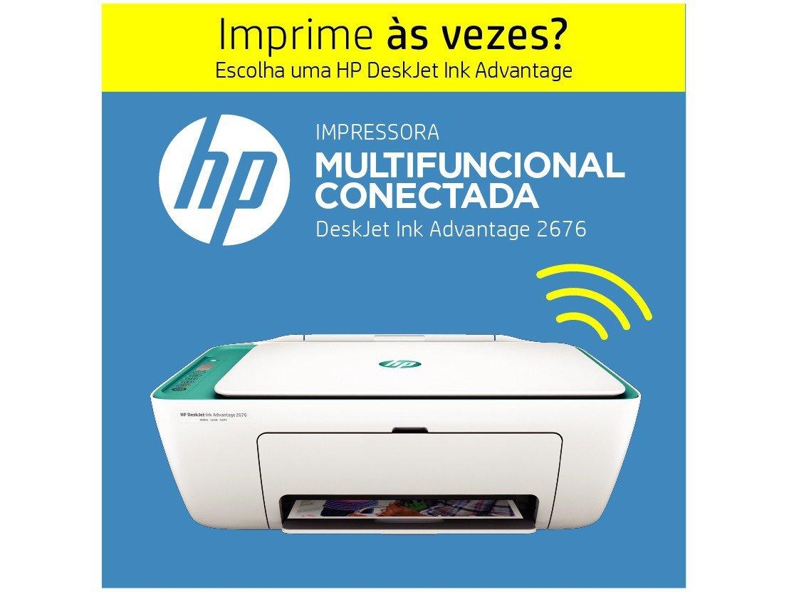 Foto 6 - Impressora Multifuncional HP Deskjet Ink Advantage - 2676 Jato de Tinta Wi-Fi Colorida USB