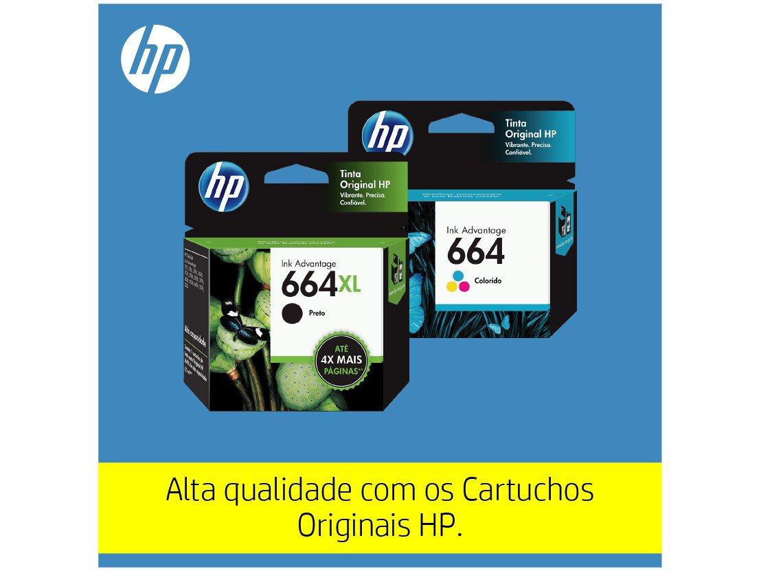 Foto 9 - Impressora Multifuncional HP DeskJet Ink 2676 - Jato de Tinta Colorida Wi-Fi USB