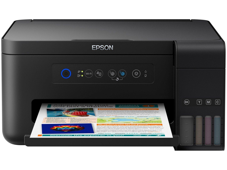 Foto 1 - Impressora Multifuncional Epson EcoTank L4150 - Tanque de Tinta Wi-Fi Colorida USB