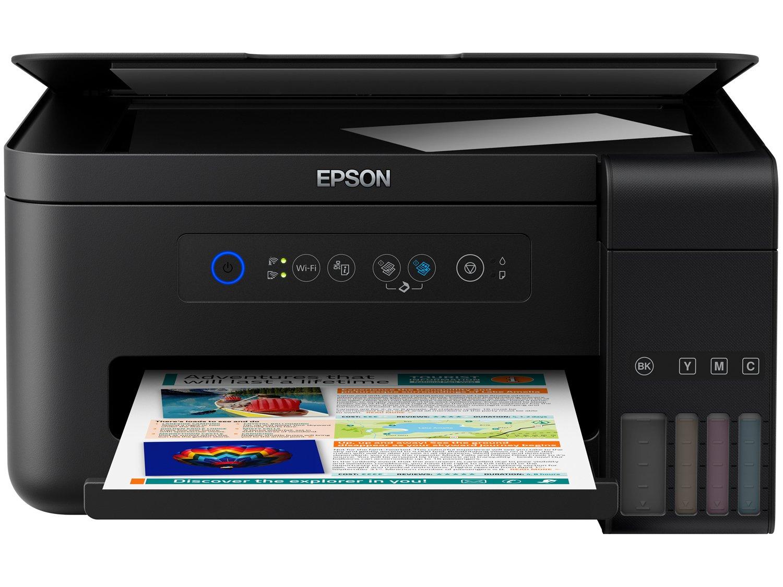 Foto 3 - Impressora Multifuncional Epson EcoTank L4150 - Tanque de Tinta Wi-Fi Colorida USB