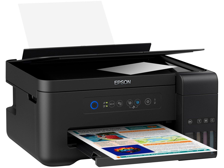Foto 4 - Impressora Multifuncional Epson EcoTank L4150 - Tanque de Tinta Wi-Fi Colorida USB