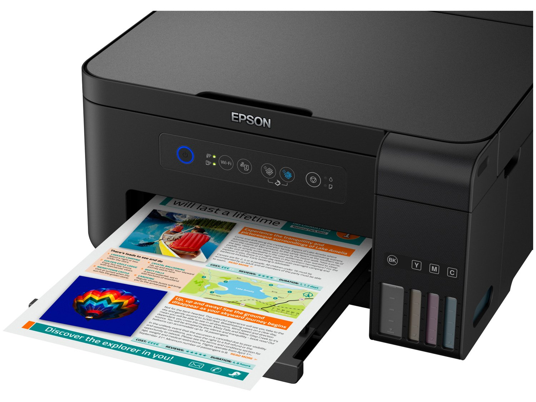 Foto 5 - Impressora Multifuncional Epson EcoTank L4150 - Tanque de Tinta Wi-Fi Colorida USB