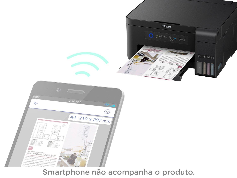 Foto 12 - Impressora Multifuncional Epson EcoTank L4150 - Tanque de Tinta Wi-Fi Colorida USB