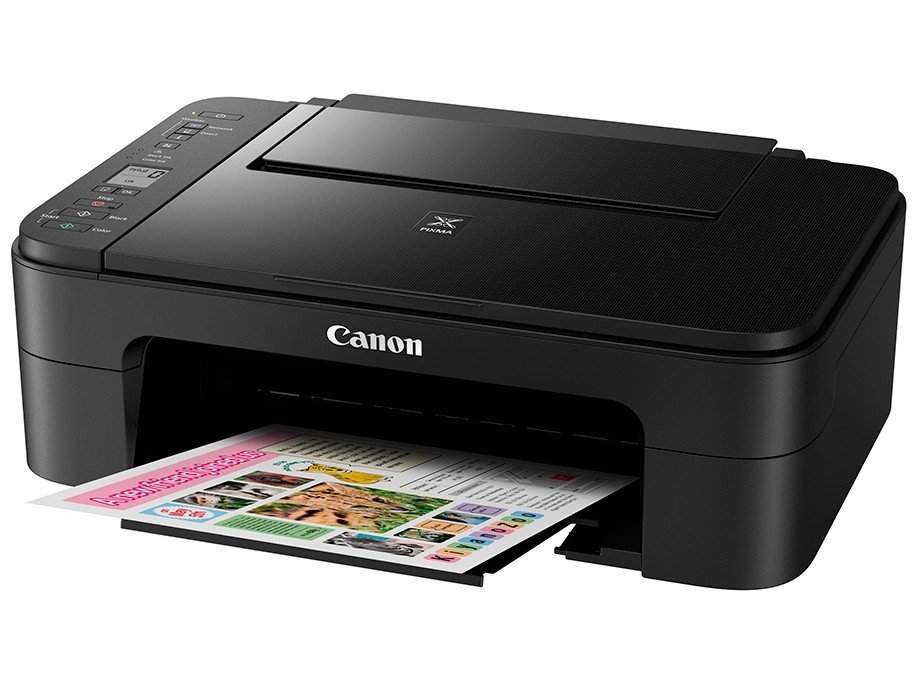 Foto 3 - Impressora Multifuncional Canon TS 3110 - Jato de Tinta Wi-Fi Colorida LCD 1,5 USB