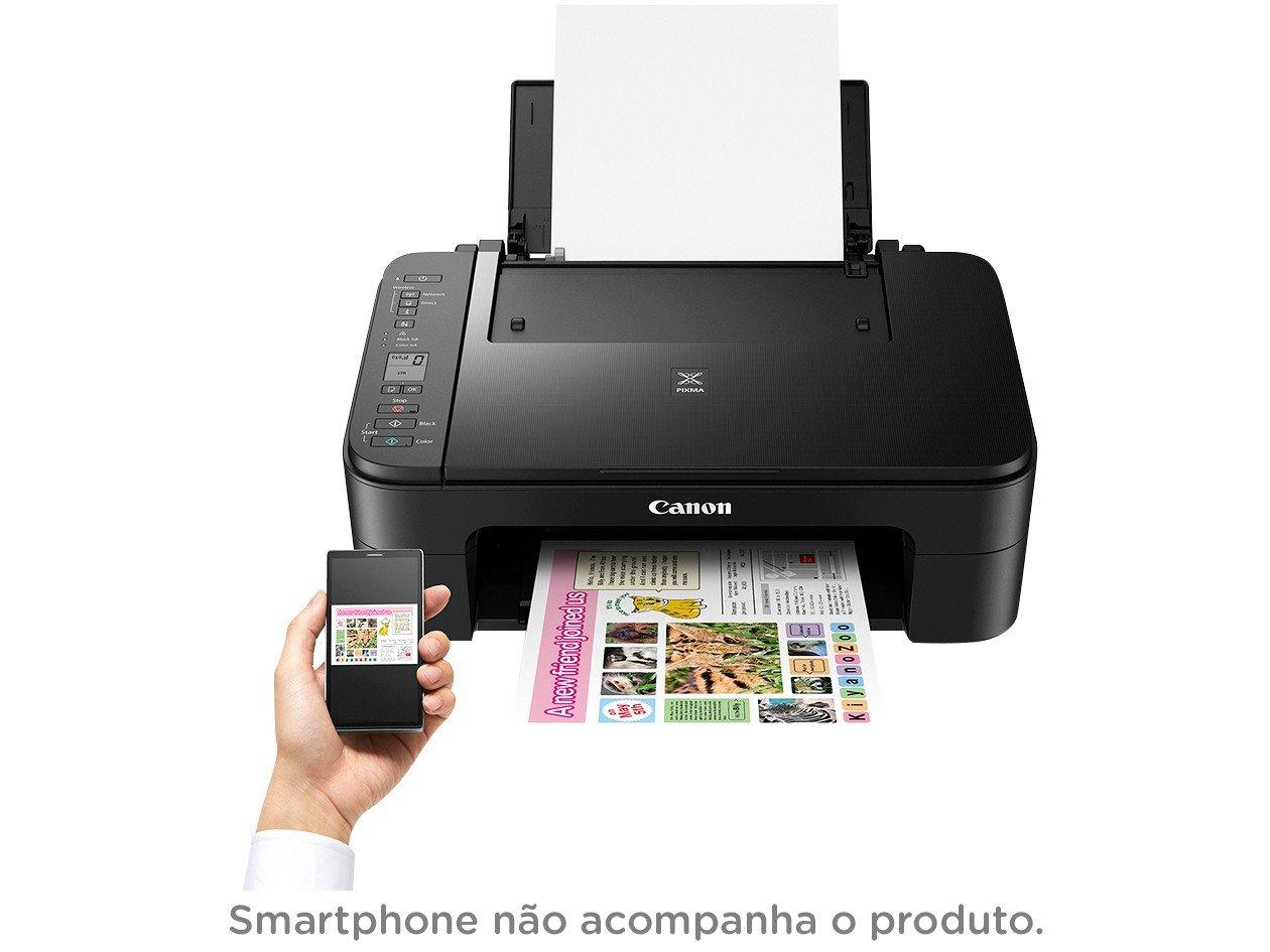 Foto 6 - Impressora Multifuncional Canon TS 3110 - Jato de Tinta Wi-Fi Colorida LCD 1,5 USB