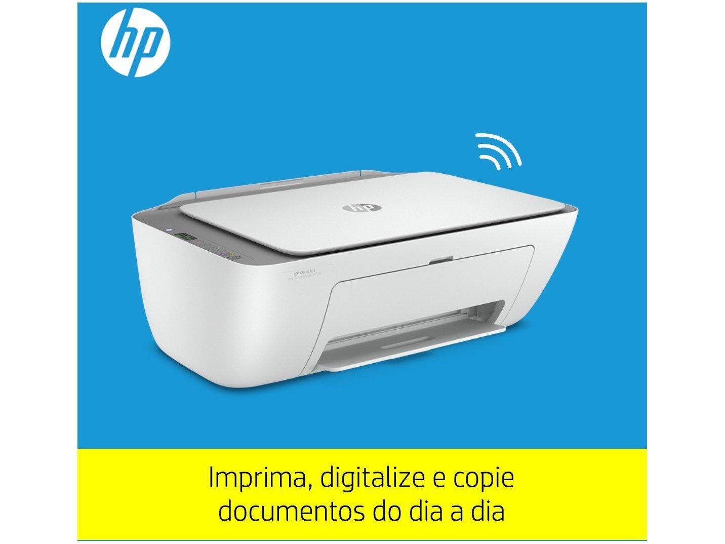 Impressora Multifuncional HP DeskJet Ink Advantage - 2776 Jato de Tinta Colorida Wi-Fi USB - Bivolt - 3