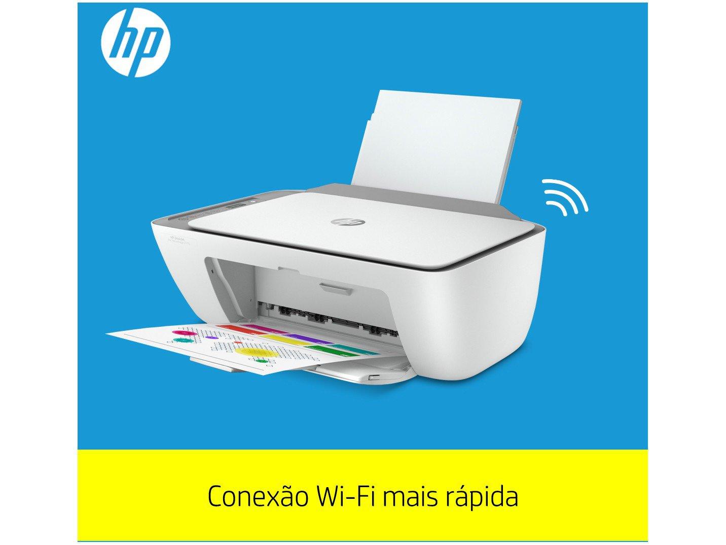 Impressora Multifuncional HP DeskJet Ink Advantage - 2776 Jato de Tinta Colorida Wi-Fi USB - Bivolt - 4