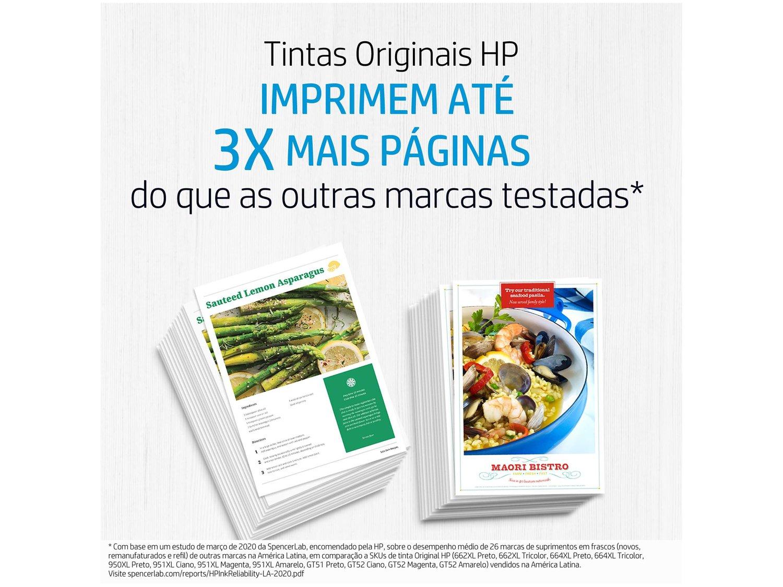 Cartucho de Tinta HP 662 Preto - Original - 8