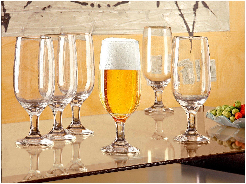 Conjunto de Taças de Vidro para Cerveja 6 Peças - 300ml Nadir Floripa 7732 - 2