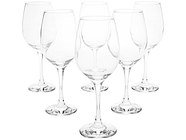 Jogo de Taças para Vinho Vidro 385ml 6 Peças - Nadir Barone