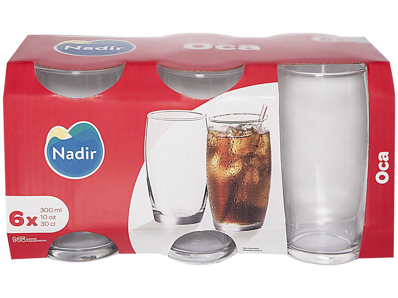 Jogo de Copos de Vidro 300ml 6 Peças Nadir - Oca Long Drink - 5