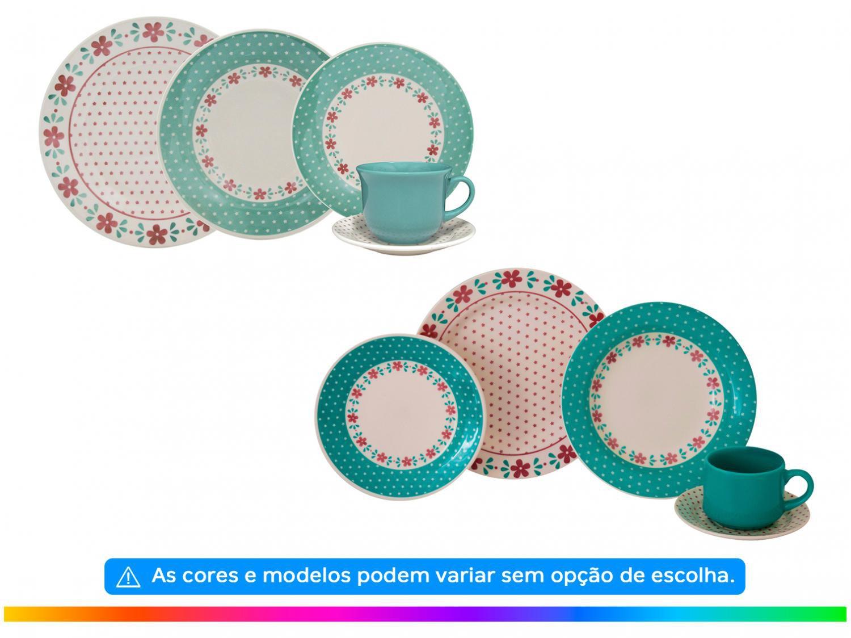 Aparelho de Jantar Chá 20 Peças Biona Cerâmica - Redondo Donna - 1