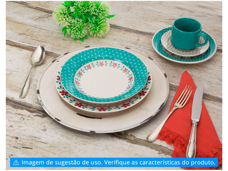 Aparelho de Jantar Chá 20 Peças Biona Cerâmica - Redondo Donna - 2