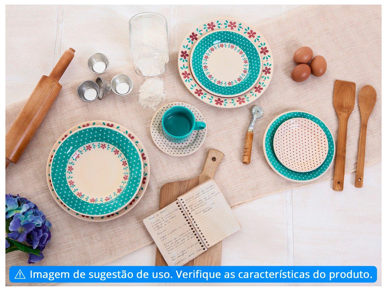 Aparelho de Jantar Chá 20 Peças Biona Cerâmica - Redondo Donna - 3