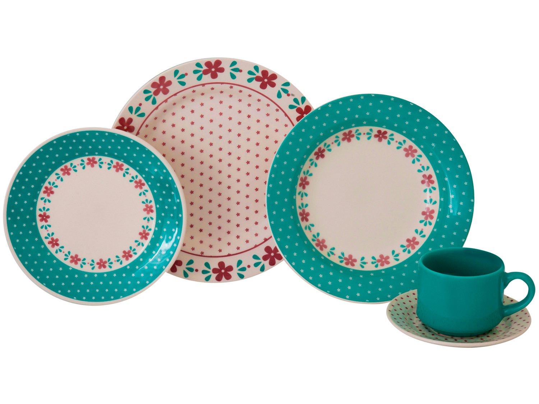 Aparelho de Jantar Chá 20 Peças Biona Cerâmica - Redondo Donna - 4