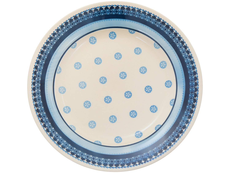 Aparelho de Jantar 20 Peças Biona Cerâmica - Redondo Branco e Azul Donna - 2