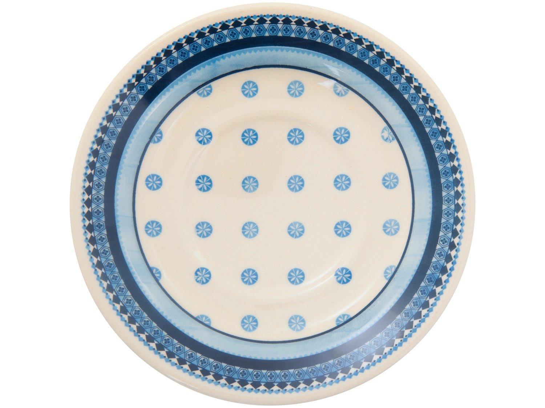 Aparelho de Jantar 20 Peças Biona Cerâmica - Redondo Branco e Azul Donna - 3