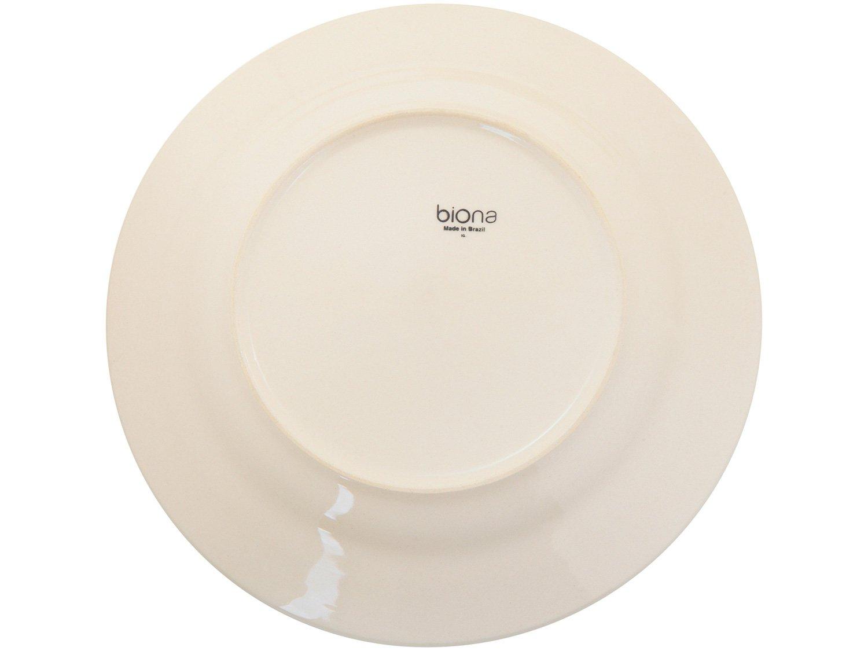 Aparelho de Jantar 20 Peças Biona Cerâmica - Redondo Branco e Azul Donna - 4