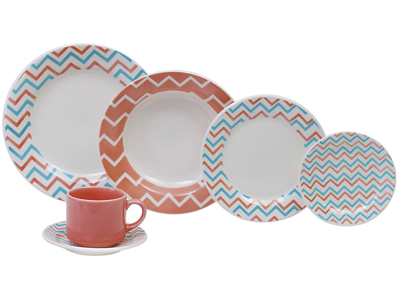 Aparelho de Jantar Chá 30 Peças Biona - Cerâmica Redondo 079768 - 2