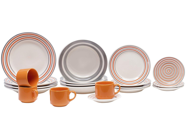 Aparelho de Jantar Chá 20 Peças Biona Cerâmica - Redondo 079943