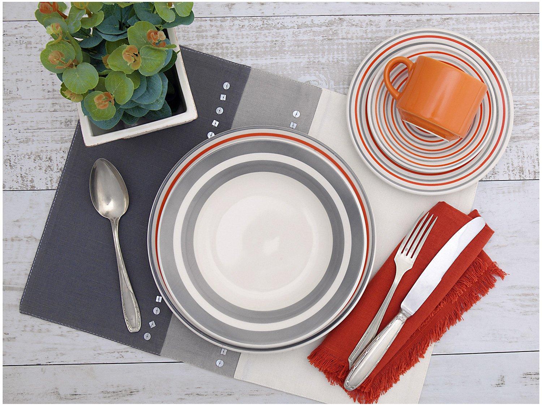 Aparelho de Jantar Chá 20 Peças Biona Cerâmica - Redondo 079943 - 1