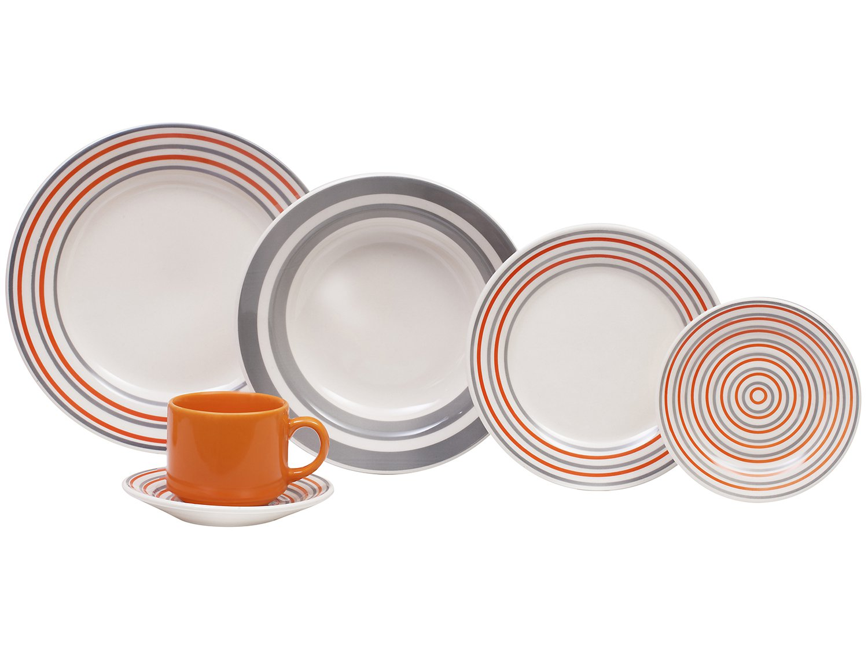Aparelho de Jantar Chá 20 Peças Biona Cerâmica - Redondo 079943 - 2