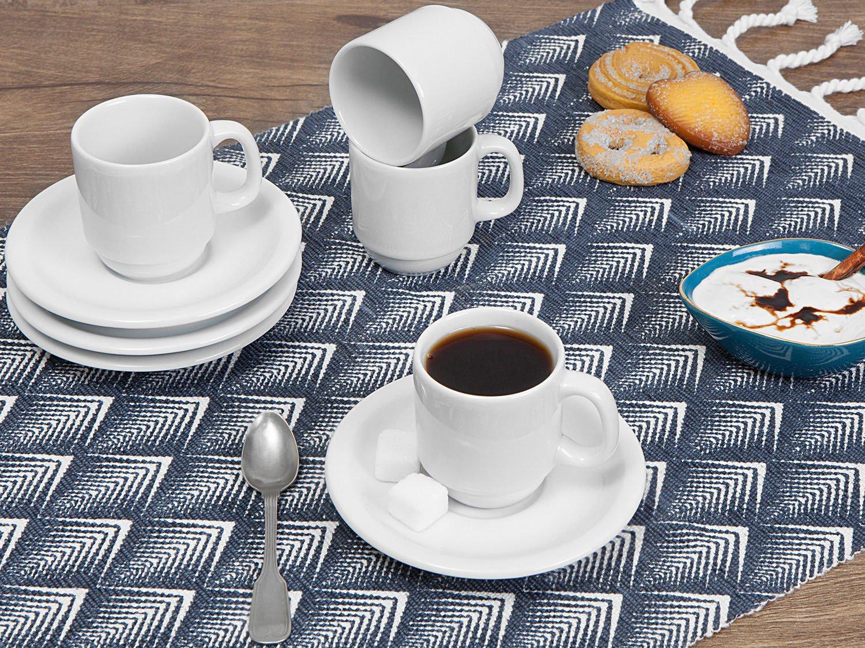 Jogo de Xícaras de Café Porcelana 4 Peças Schmidt - Basic 52910180070038102359 - 1