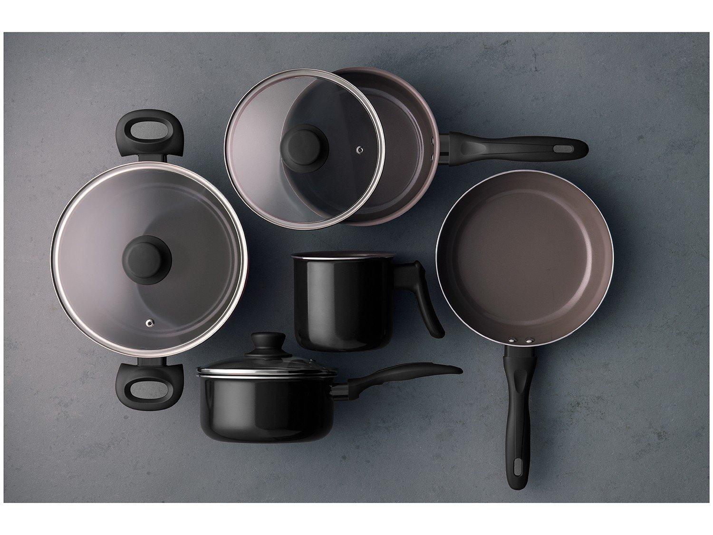 Jogo de Panelas Brinox Revestimento Cerâmico - Preto 5 Peças Ceramic Life Easy - 1