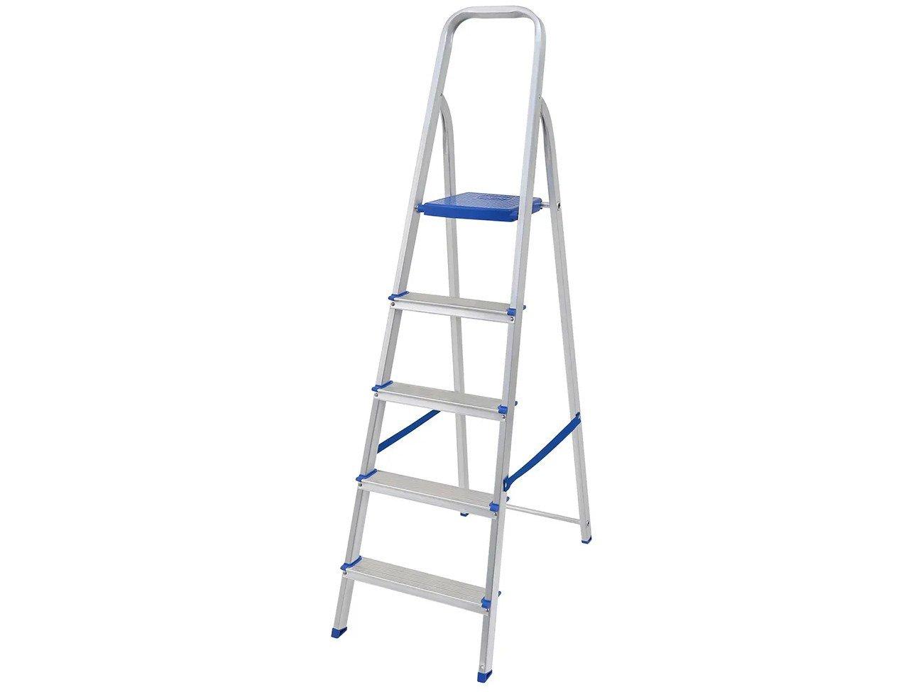 Escada de Alumínio 5 Degraus Mor - 5103