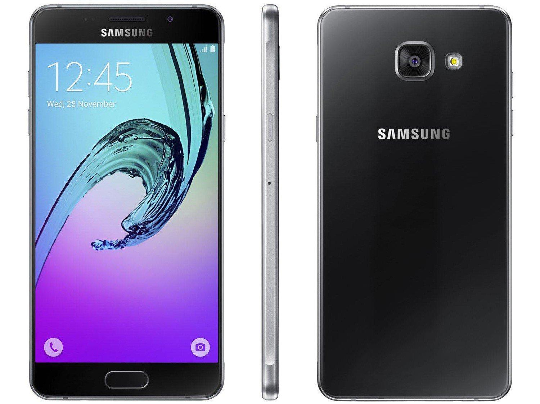 "Smartphone Samsung Galaxy A5 2016 Duos 16GB Preto - 2GB RAM Tela 5.2"" 4G Câm. 13MP + Câm. Selfie 5MP"