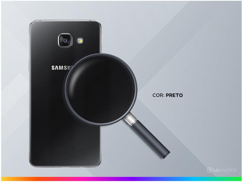 "Smartphone Samsung Galaxy A5 2016 Duos 16GB Preto - 2GB RAM Tela 5.2"" 4G Câm. 13MP + Câm. Selfie 5MP - 2"