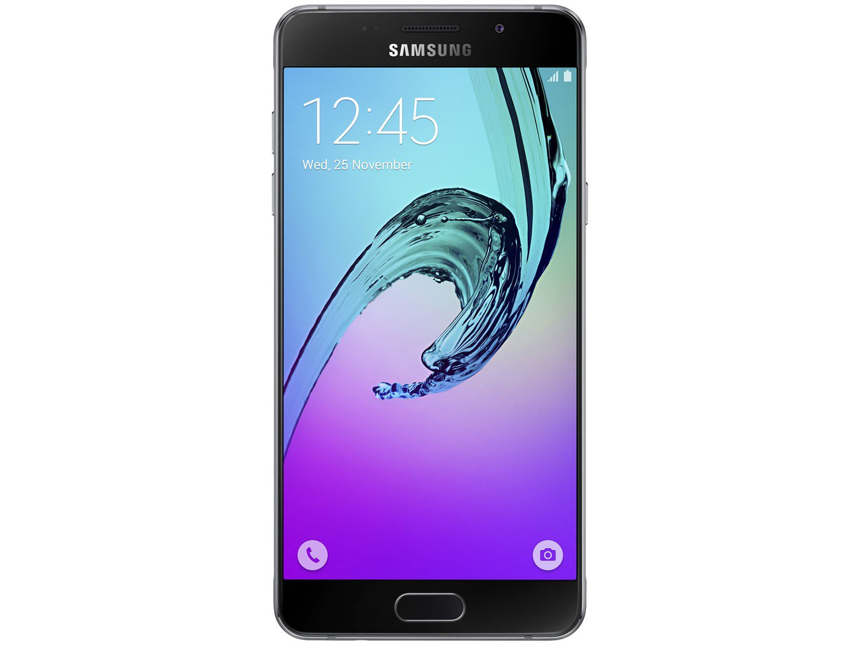 "Smartphone Samsung Galaxy A5 2016 Duos 16GB Preto - 2GB RAM Tela 5.2"" 4G Câm. 13MP + Câm. Selfie 5MP - 4"