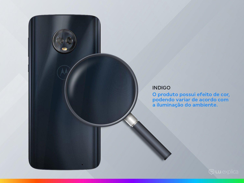 "Smartphone Motorola Moto G6 Plus 64GB Indigo 4G - 4GB RAM Tela 5,93"" Câm. Dupla+ Câm. Selfie 8MP - 4"