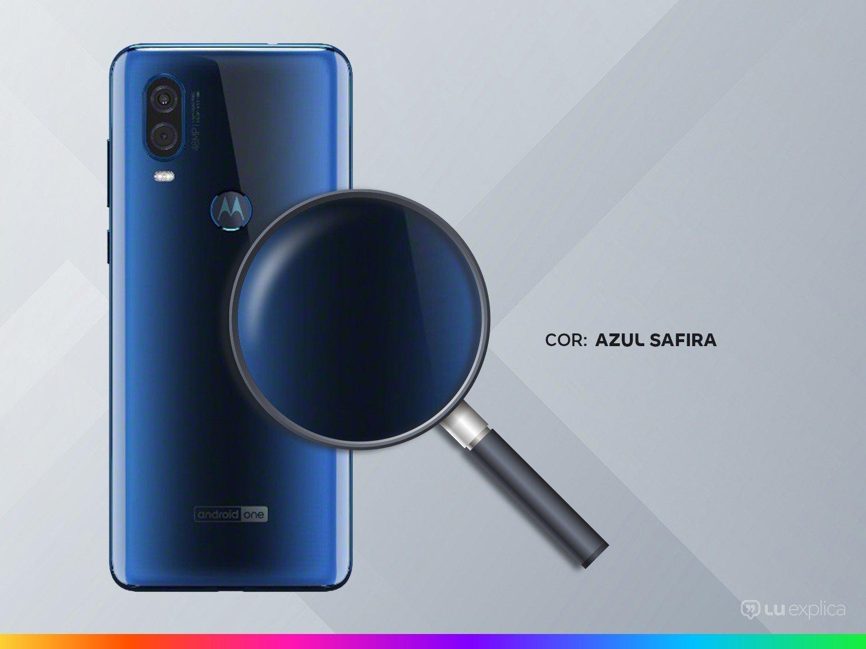 "Smartphone Motorola One Vision 128GB Azul Safira - 4G 4GB RAM 6,34"" Câm. Dupla + Câm. Selfie 25MP - 8"