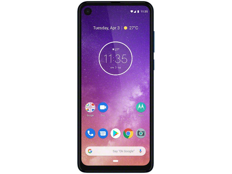 "Smartphone Motorola One Vision 128GB Azul Safira - 4G 4GB RAM 6,34"" Câm. Dupla + Câm. Selfie 25MP - 12"
