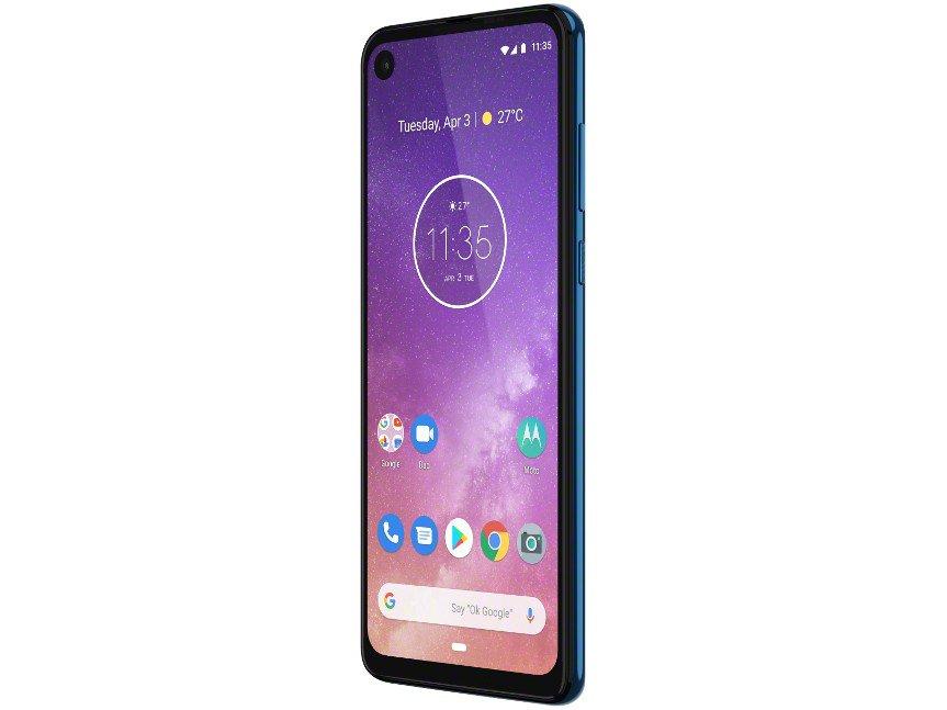 "Smartphone Motorola One Vision 128GB Azul Safira - 4G 4GB RAM 6,34"" Câm. Dupla + Câm. Selfie 25MP - 16"