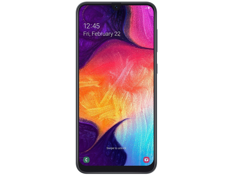 """Smartphone Samsung Galaxy A50 Preto 128GB, Tela Infinita de 6.4"""", Câmera Traseira Tripla, Leitor Digital na Tela, Android 9.0 e Processador Octa-Core - 9"""