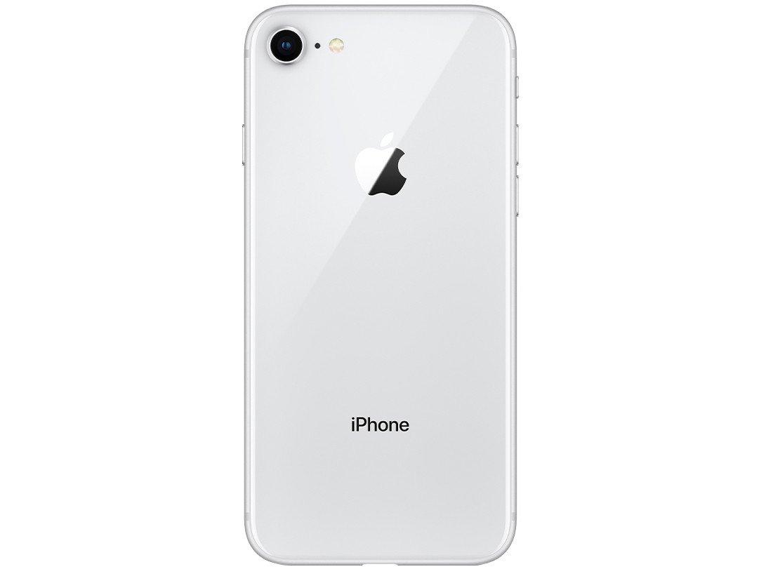 """iPhone 8 Apple com 128GB, Tela Retina HD de 4,7"""", iOS 11, Câmera de 12 MP, Resistente à Água, Wi-Fi, 4G LTE e NFC - Prateado - 9"""