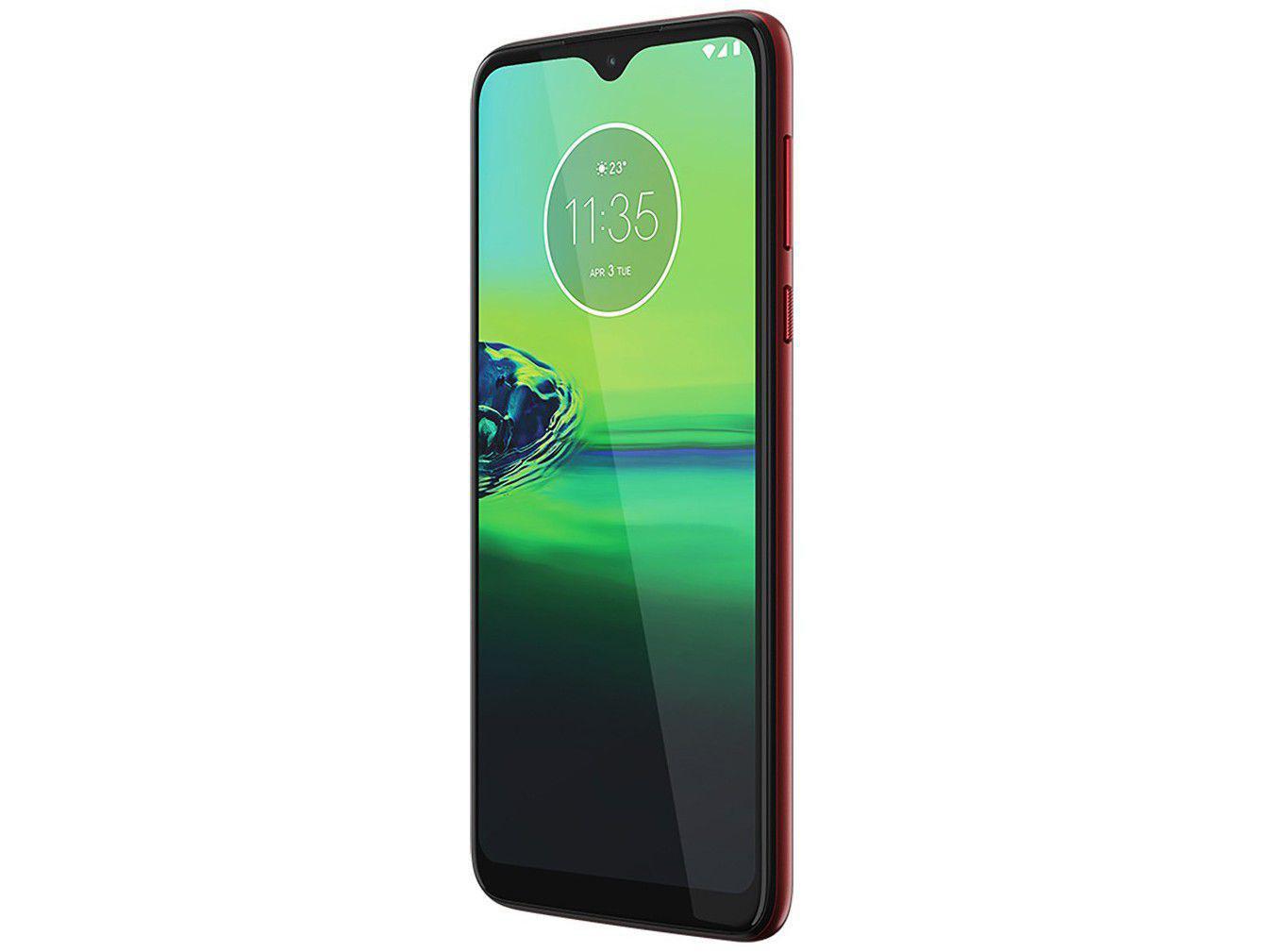 """Smartphone Motorola Moto G8 Play Vermelho Magenta 32GB, Tela Max Vision de 6.2"""" HD+, Câmera Traseira Tripla, Android 9.0 e Processador Octa-Core - 4"""
