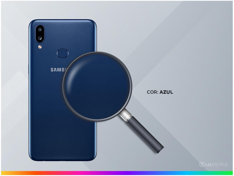 "Smartphone Samsung Galaxy A10s Azul 32GB, Câmera Dupla Traseira, Selfie de 8MP, Tela Infinita de 6.2"", Leitor de Digital, Octa Core e Android 9.0 - 5"