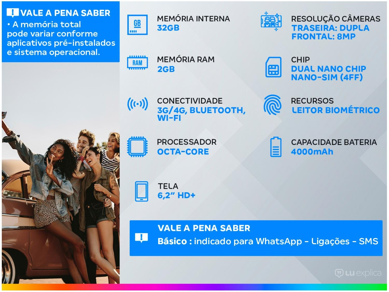 """Smartphone Samsung Galaxy A10s 32GB Dual Chip Android 9.0 Tela 6.2"""" Octa-Core 4G Câmera 13MP+2MP - Vermelho - 3"""