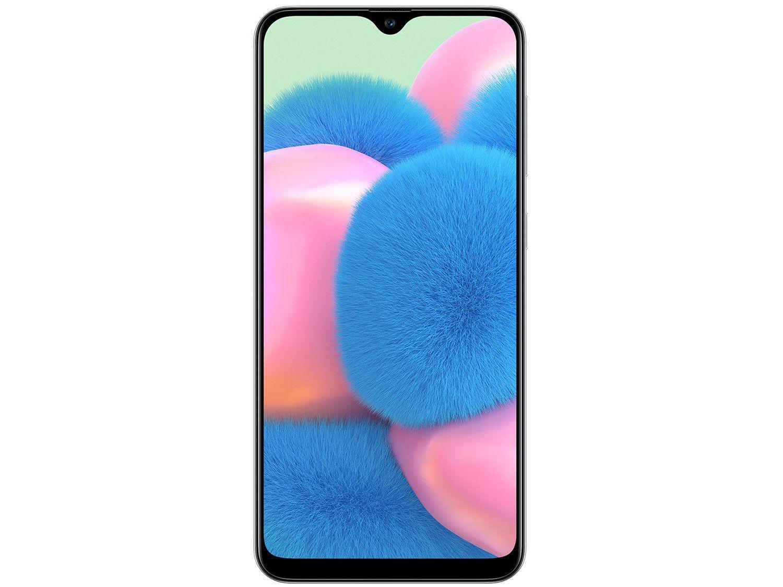 "Smartphone Samsung Galaxy A30s 64GB Branco 4G - 4GB RAM Tela 6,4"" Câm. Tripla + Câm. Selfie 16MP - 4"