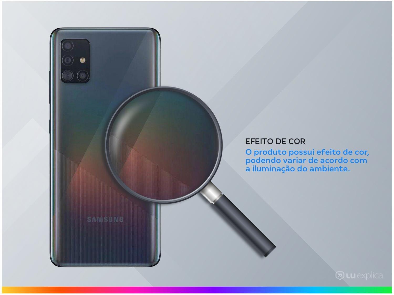 "Smartphone Samsung Galaxy A51 128GB Preto 4G - 4GB RAM 6,5"" Câm. Quádrupla + Câm. Selfie 32MP - Bivolt - 2"