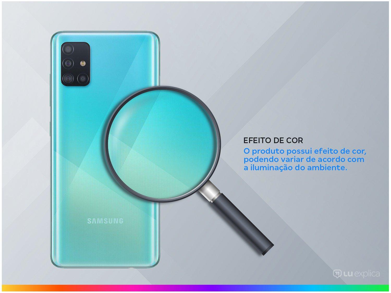 "Smartphone Samsung Galaxy A51 128GB Azul 4G - 4GB RAM 6,5"" Câm. Quádrupla + Câm. Selfie 32MP - Bivolt - 2"