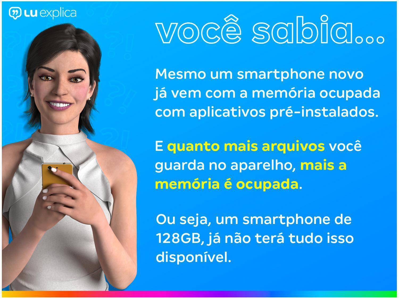 "Smartphone Samsung Galaxy A51 128GB Azul 4G - 4GB RAM 6,5"" Câm. Quádrupla + Câm. Selfie 32MP - Bivolt - 3"